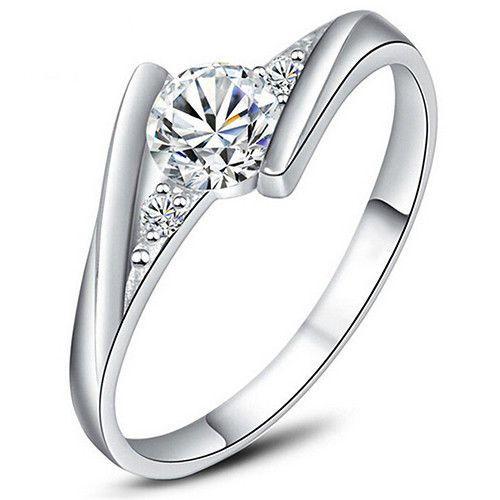Vintage Ring Size 9 Jewelry Women 925 Sterling Engagement Silver Wedding Rings  #925SterlingSilver #925SterlingSilver #Wedding