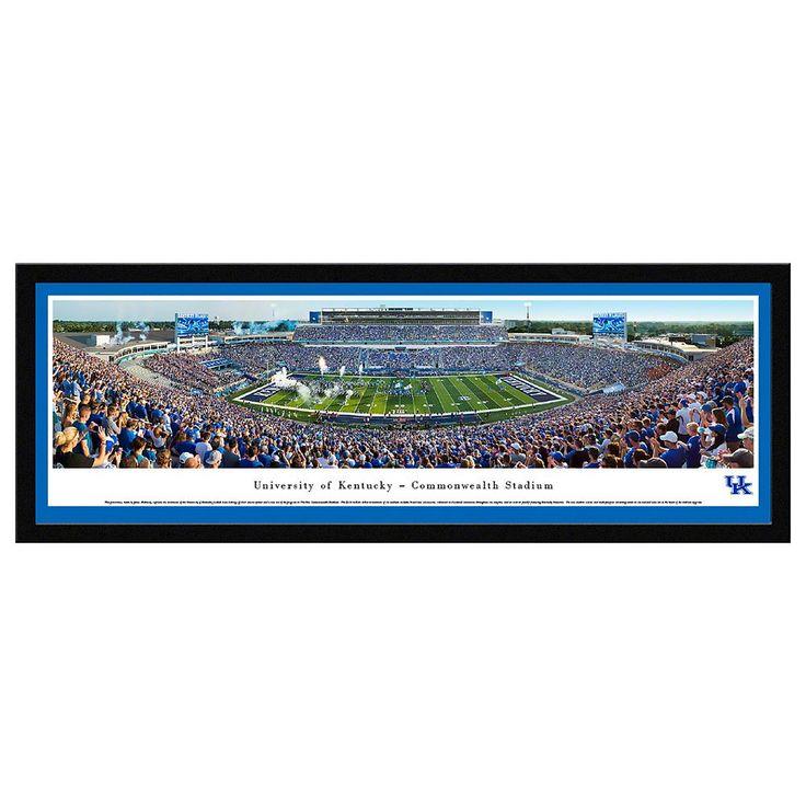 Kentucky Wildcats Football Stadium Framed Wall Art, Multicolor