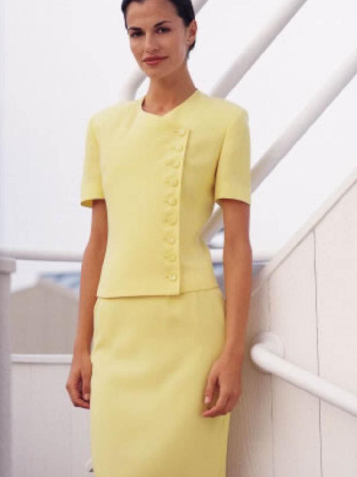yellow dress outfits de oficina