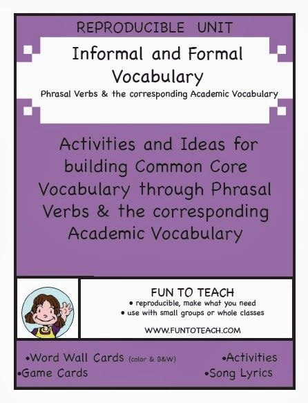 Academic writing formal vocabulary dictionary