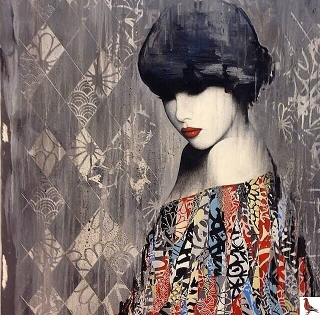 Artist: HUSH Blue Geishas And Graffiti Tags