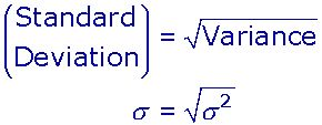 explain the relationship between variance and standard deviation
