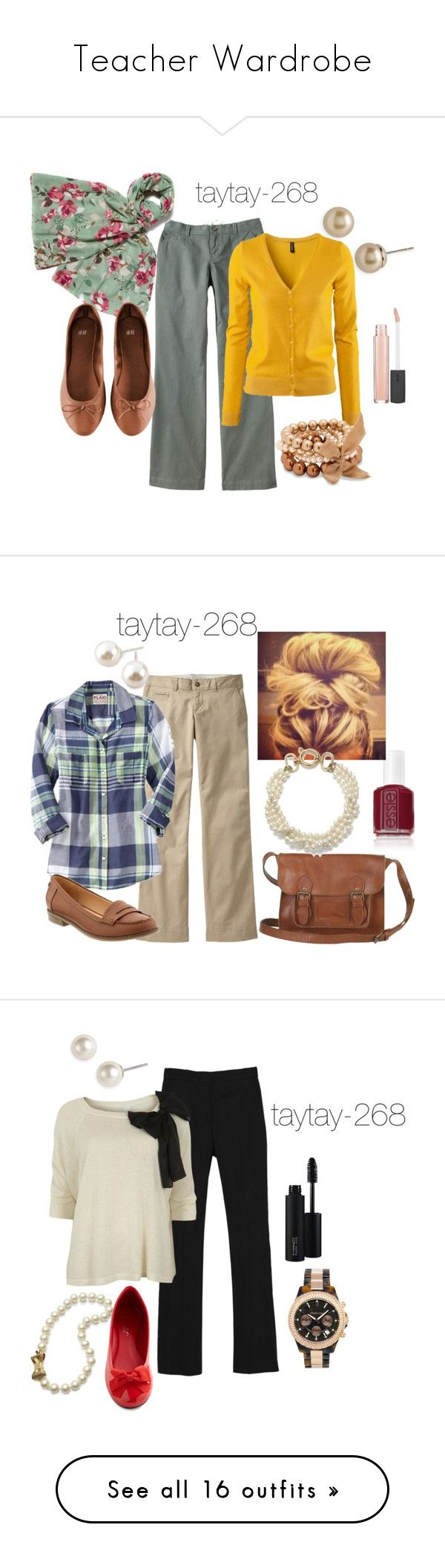 Teacher Wardrobe by taytay-268 on Polyvore featuring Old Navy, Majorica, H&M, EAST, Betty Jackson, Bite, Cezanne, Fat Face, Essie and Fallon