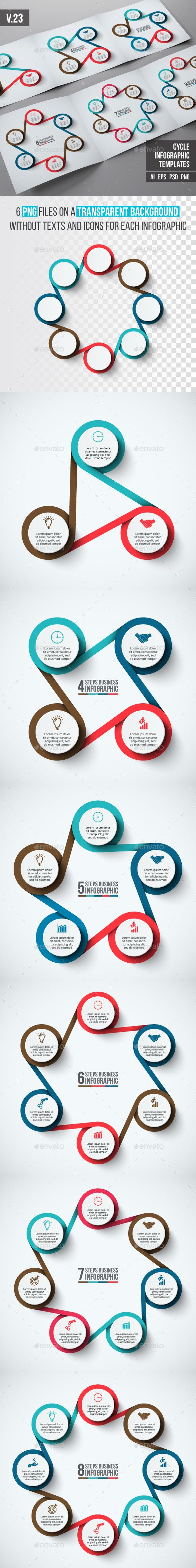 Infographics Template PSD, Vector EPS, AI Illustrator