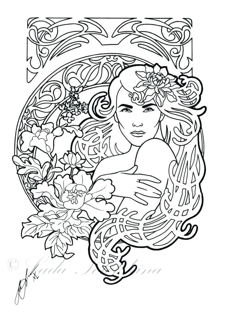 - Art Nouveau Coloring Book Art Coloring Pages As Awesome Art By Art Coloring  Pages Art Nouveau Col… Cool Coloring Pages, Anime Artwork Wallpaper,  Fantasy Art Women