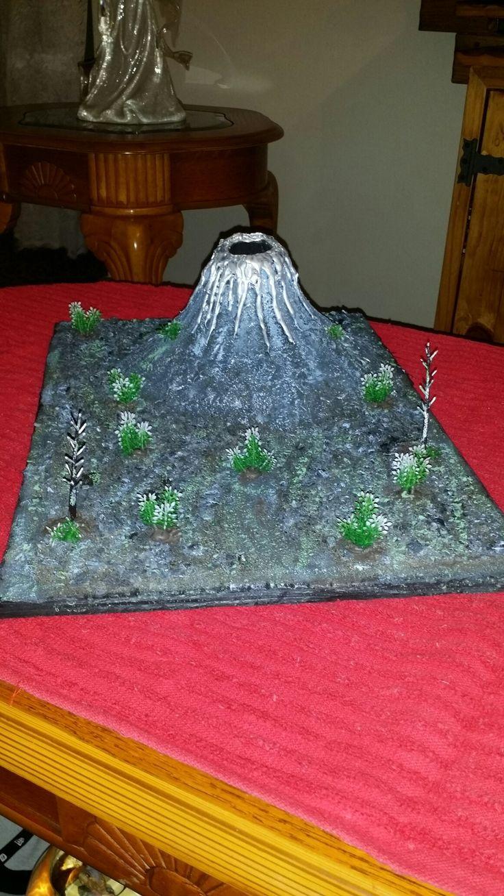 Maqueta  de volcán