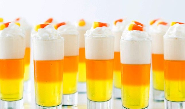 Party On This Halloween With Candy Corn Jello Shots