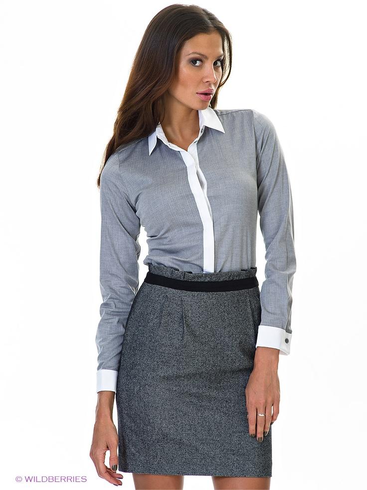 Блузка ESPRIT. Цвет серый. Категории: Блузки, рубашки, Длинный рукав, Новые поступления.