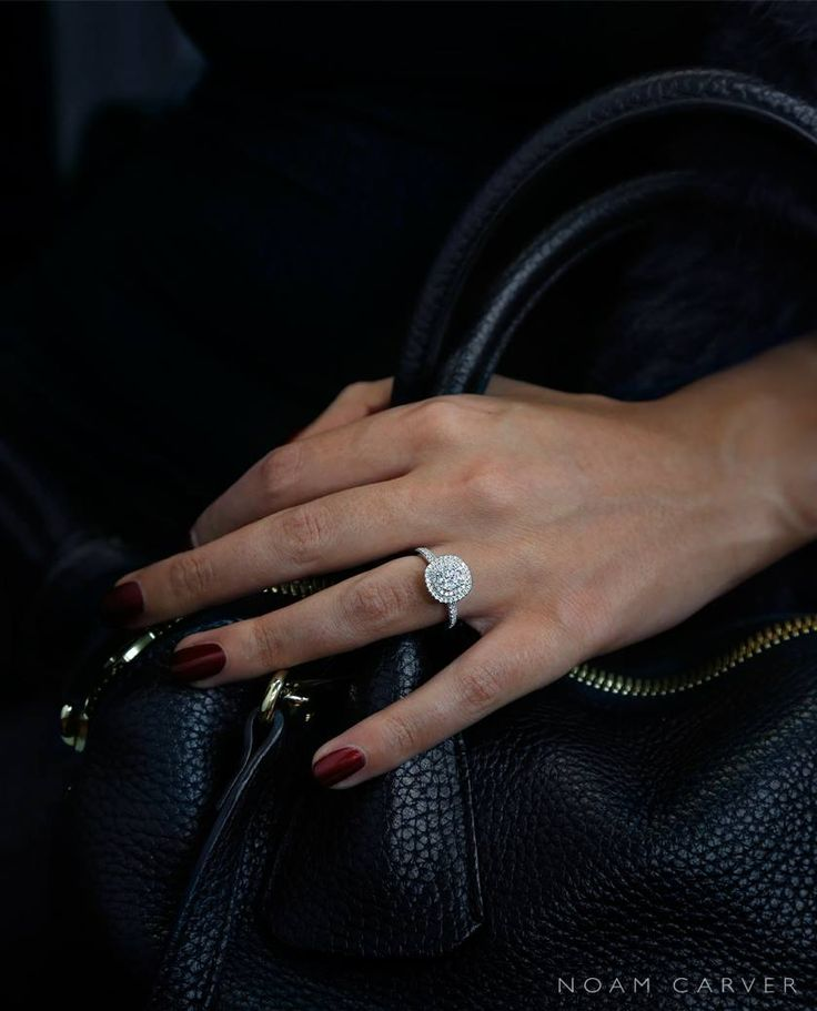 Double Halo engagement ring by Noam Carver.