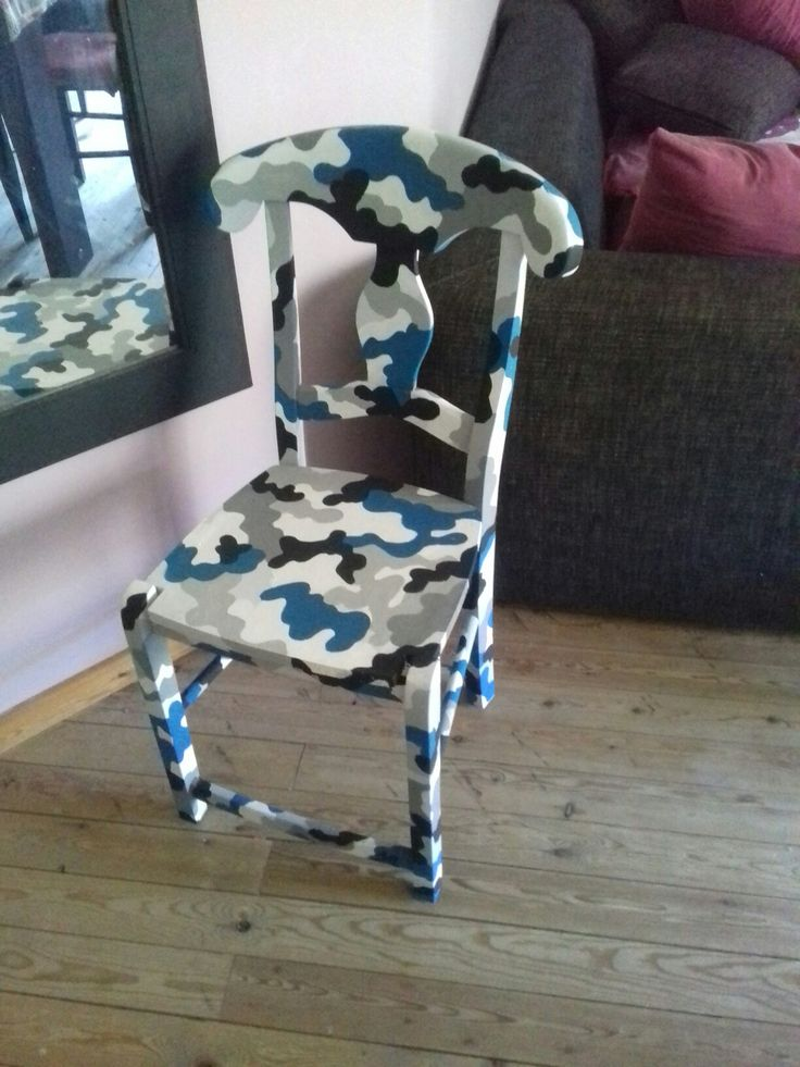 handpainted wooden chair for boys