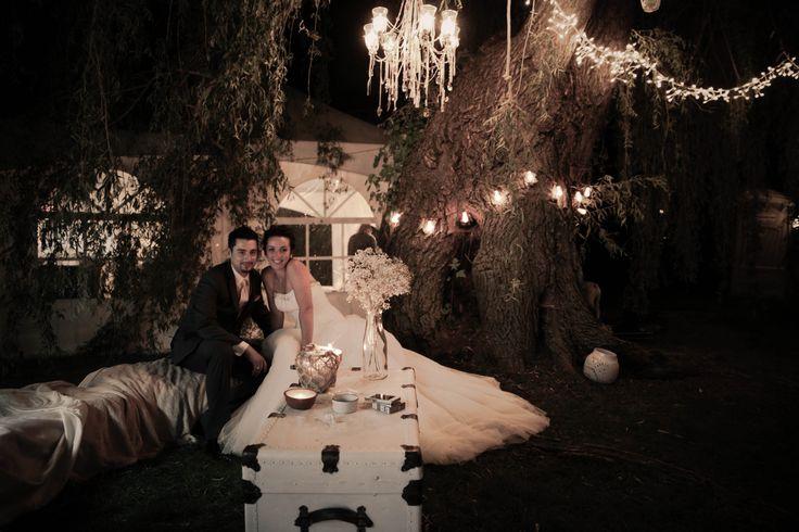 outdoor wedding, party, bride, wedding dress, groom, lounge