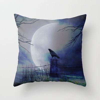 Whit this beautiful moon Throw Pillow by Oscar Tello Muñoz - $20.00