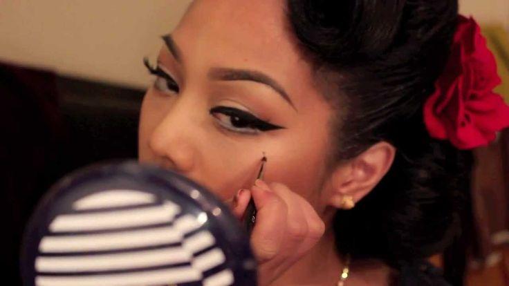 1950's Pin Up Inspired Make up tutorial // Palafoxxia