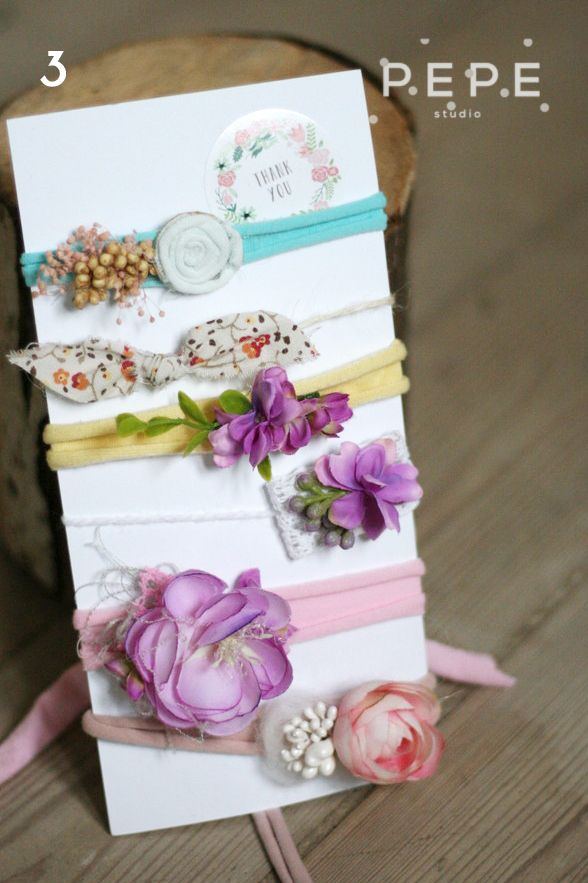 Newborn headbands, newborn photo props, floral headbnds, newborn photo props, photo props, newborn photography, headbands set