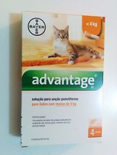 Bayer Advantage 40 Flea  Control For Cats 0-10 Ibs 0-4 Kg 4 Pack