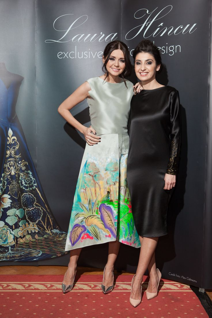 Laura Hîncu painted dress - Laura Hîncu & Albertina Ionescu