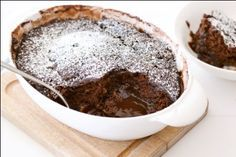 Microwave chocolate self saucing pudding, - you have to love a pudding that takes longer to eat than make :)