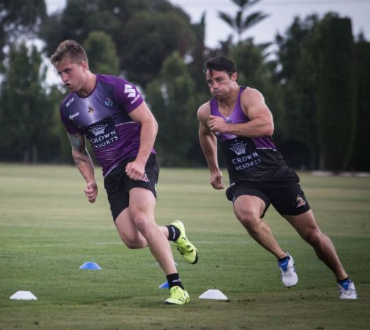 Cooper Cronk with Cameron Munster