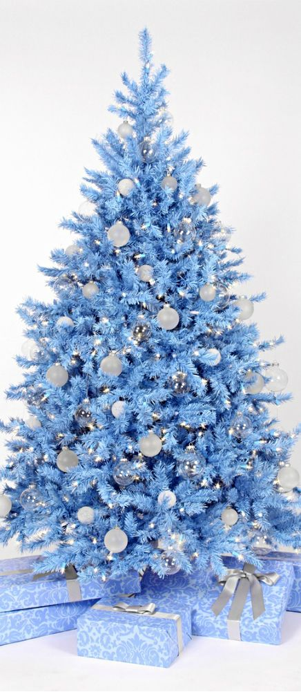 Christmas tree pastel blue christmas trees pinterest for Blue decoration xmas tree