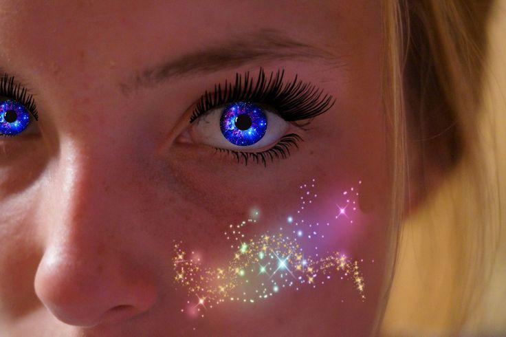 Galaxy Eyes. Made with PicsArt by @ gnithi and @yoyoitsjess