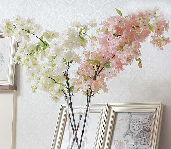 White or light pink... Which one do you prefer? #artificial cherry #blossoms