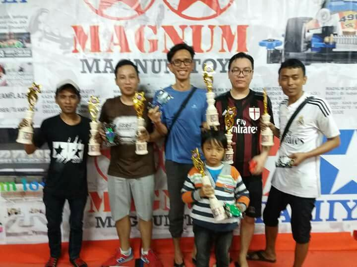 OFFICIAL FINAL RESULT INDONESIA CUP SERIES VII ASIA CHALENGE SERI 4 TOS (TAMIYA ORIGINAL SERATUS) MAGNUM  KAZA CITY SURABAYA 08-09 JULI 2017  1st PLACE WINNER>NALA (SURABAYA) Nala Dea 2nd PLACE WINNER>BUDI (MALANG) Genjin Crew Orc 3nd PLACE WINNER>ZAINAL (MALANG) Dkah 4th PLACE WINNER>DIDIK La Tahzan (SURABAYA) 5th PLACE WINNER>ANDRE (SURABAYA) Welly Rei 6th PLACE WINNER>ZAINAL (MALANG)  BTO 1 : IRUEL (SURABAYA) (20.44) DETIK  BTO 2 : IRUEL (20.53) DETIK SUPORT BY NALA  CONGRATULATION