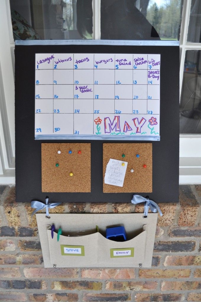 Diy Calendar Board : Diy calendar board tutorial foam with sheet of dry