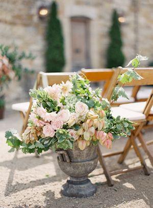 Blush Pink and Green Tone Earthy Wedding by Jose Villa...at a California Vineyard Villa