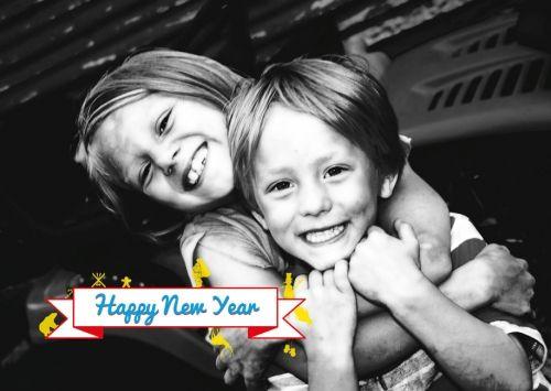 Hip - Originele kerstkaartjes en nieuwjaarskaartjes te personaliseren met je eigen foto en tekst.  Creatief en opvallend!  copyright ditzijnkaartjes.be.
