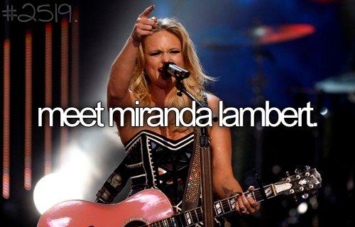 Miranda Lambert...