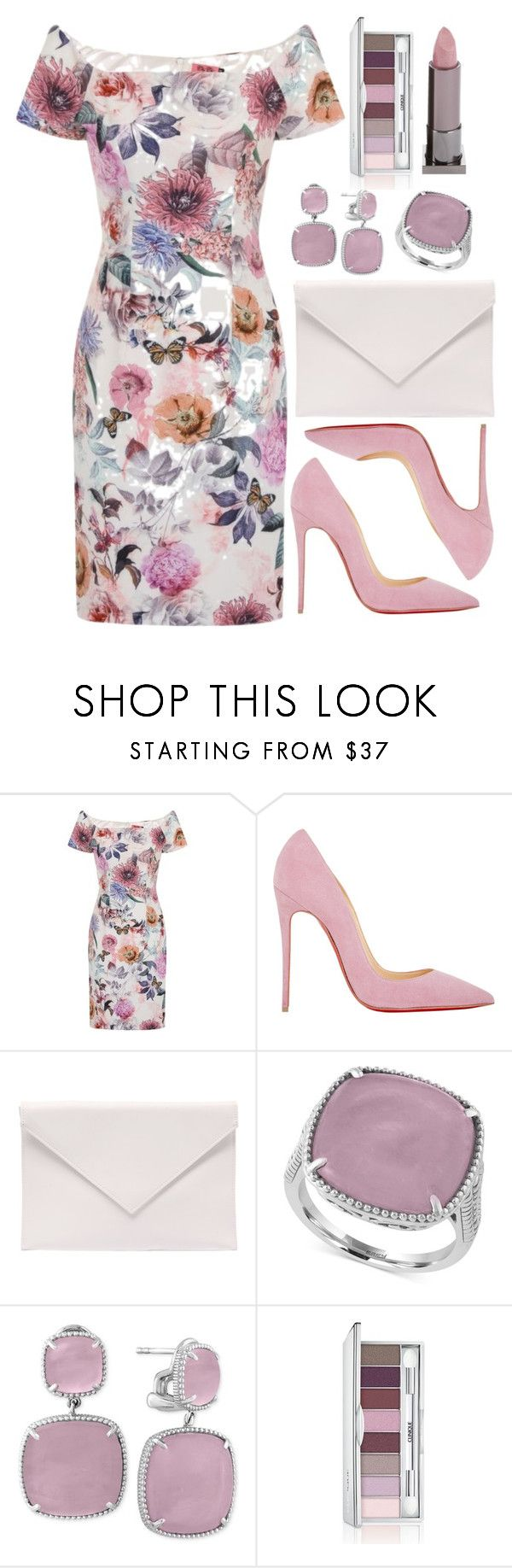 """""""Untitled #4394"""" by natalyasidunova ❤ liked on Polyvore featuring Chi Chi, Christian Louboutin, Verali, Effy Jewelry, Clinique and Lipstick Queen"""
