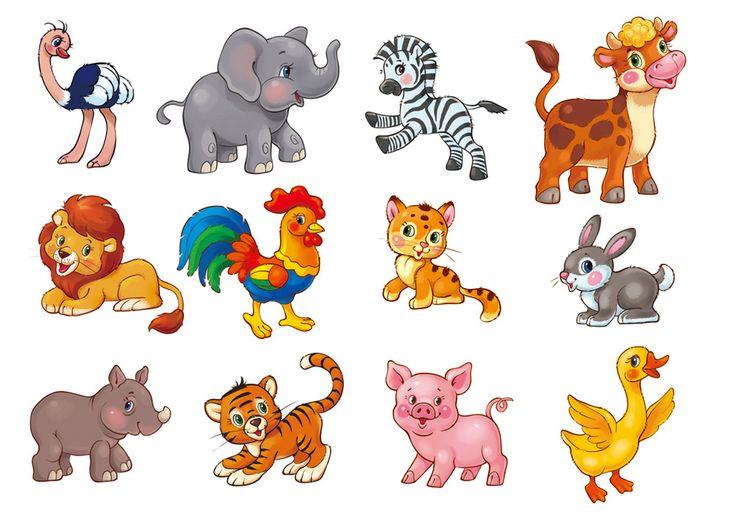 Детские картинки животных для занятий