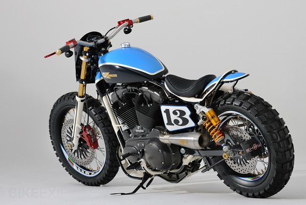 Harley dirt bike custom ... strange but oddly attractive