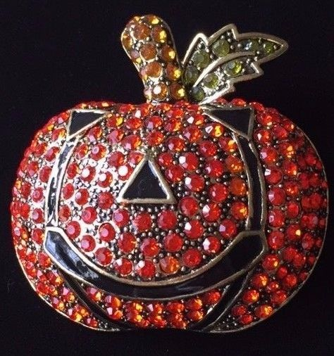 round jewelry pumpkin index orange diamond