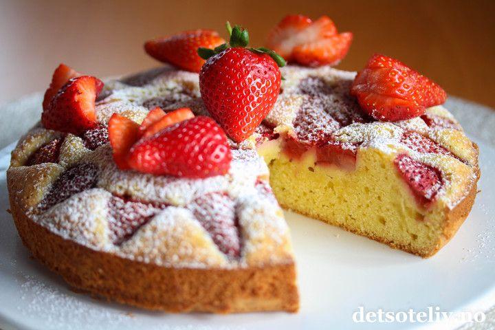 Vaniljesauskake med jordbær | Det søte liv
