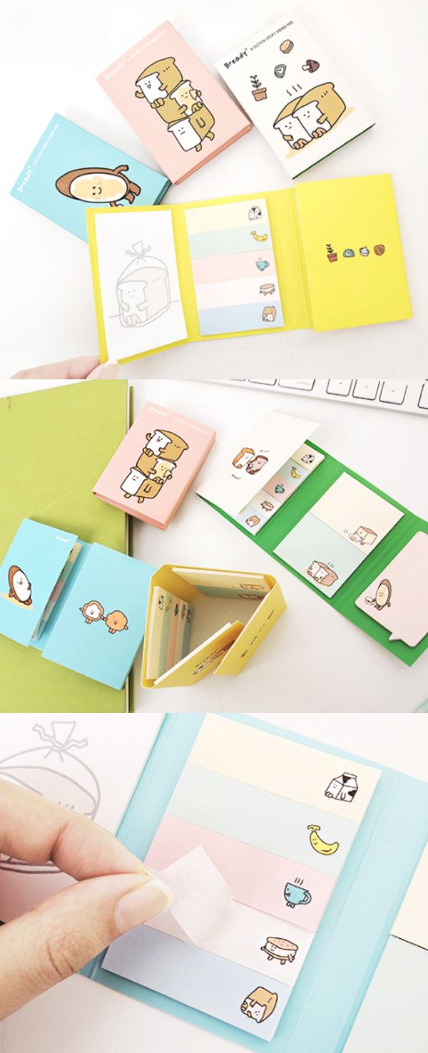 The cute bready friends are everywhere! With a variety of sticky notes, you can write note and messages, index, bookmark and even decorate your items with this lovely sticky notes!