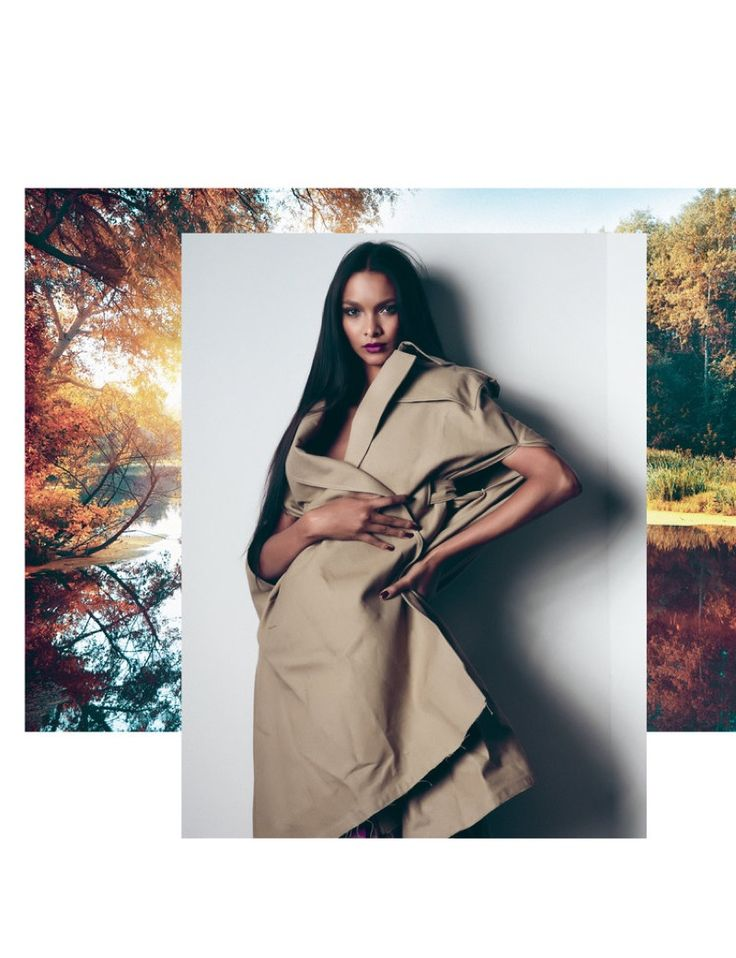 Lais Ribeiro models Valentino coat and skirt for FLAUNT Magazine Spring 2017 issue