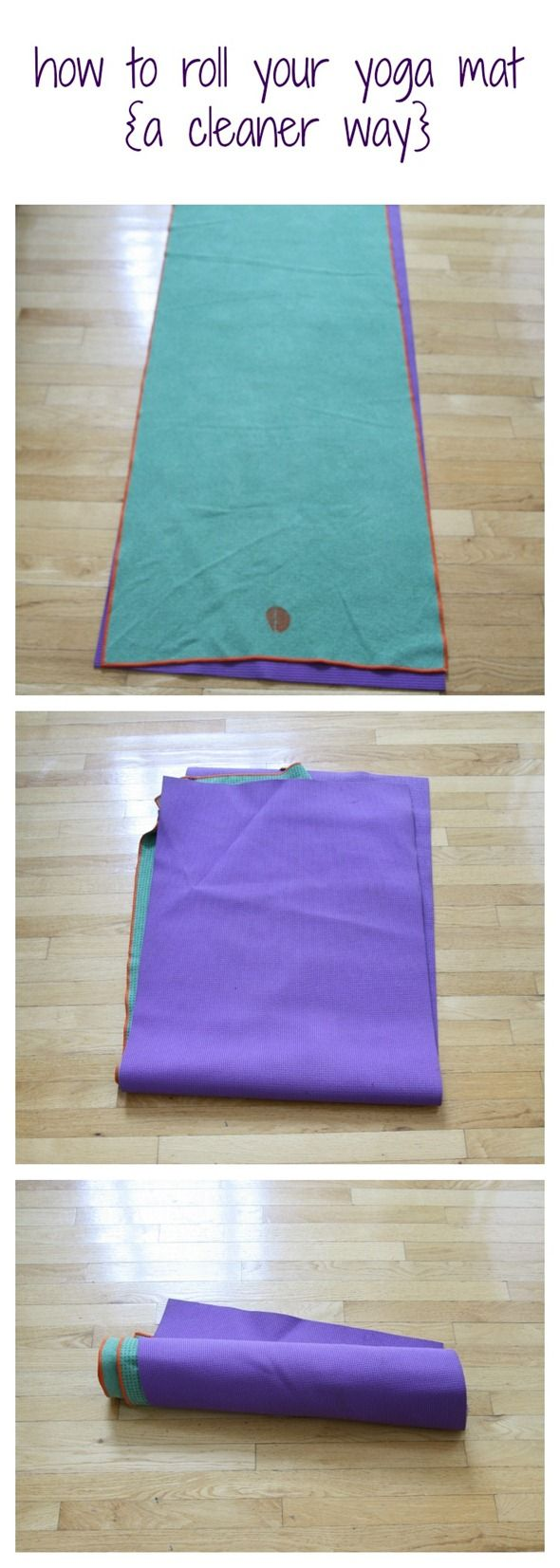 how to roll your yoga mat