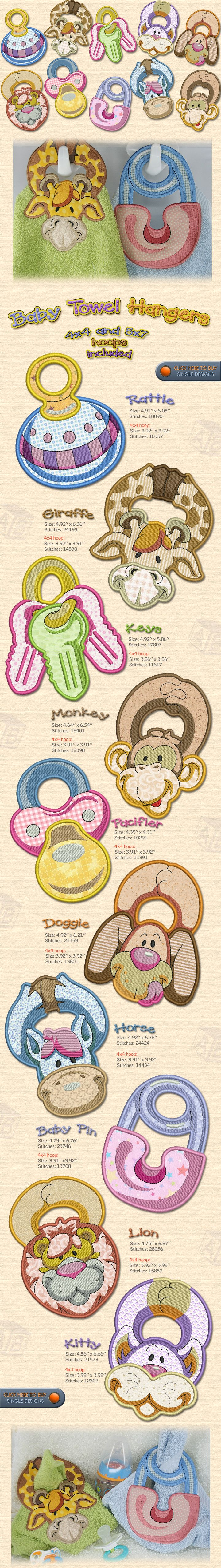 Baby Towel Hangers Embroidery Designs Free Embroidery Design Patterns Applique