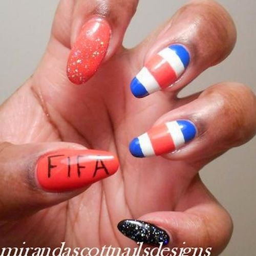Ultimate World Cup Nail Art 2014 Gallery - #Trending 2014 | Costa Rica #costarica