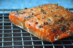 Unforgettable Smoked Salmon with rosemary and mustard spices within dry rub