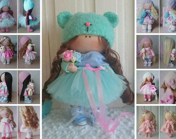 Fabric doll Handmade doll Tilda doll Interior doll Bambole