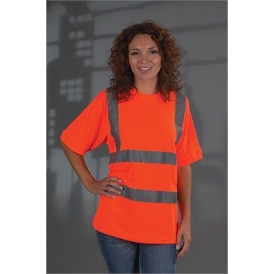 The Yoko HVJ410 Ladies Hi Vis Short Sleeve T Shirt is designed to give you comfort and dexterity whilst being safe and seen. Available in Two safety conforming colours... Orange (GO/RT3279) orange, Yellow (EN471 Class 2).
