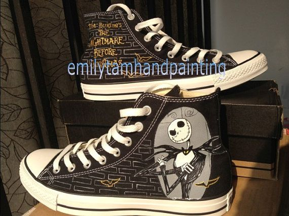 The Nightmare Before Christmas Custom Converse Shoes- Hand Painting High Top Converse