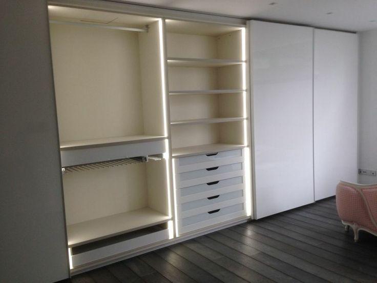 Armario interior en melamina textil barras para colgar for Barra para armario sin agujeros
