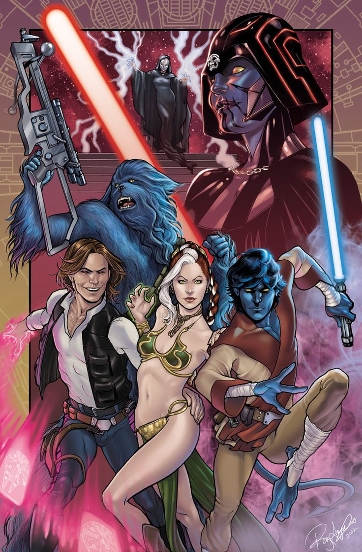 What if the X-Men starred in Star Wars? But seriously?! Because Magneto would have been too obvious as Darth Vader?! Whatever... Also, at least Rogue being Leiah would have prevented that awkward kiss... YOU KNOW THE ONE.