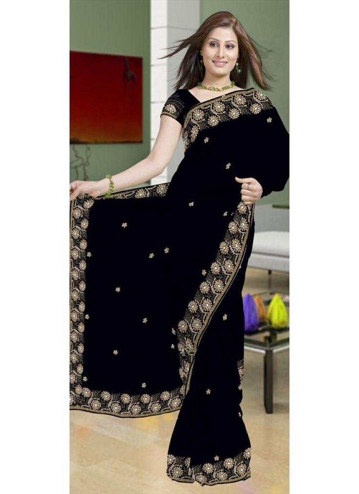 Majestueux  sari noir