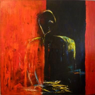 Great Mogul - 90 x 90. A painting by artist Marianne Harton.
