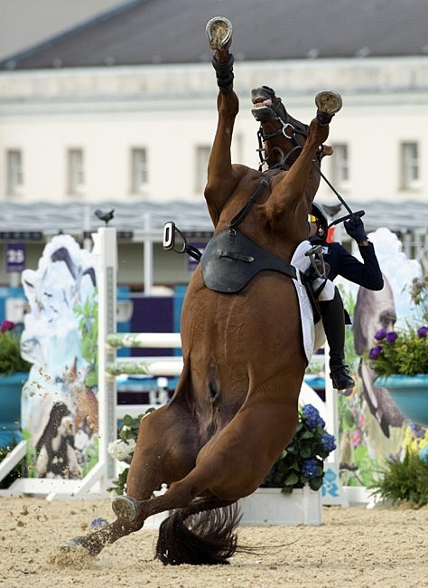 South Korea S Hwang Woojin Loses Control Of His Horse