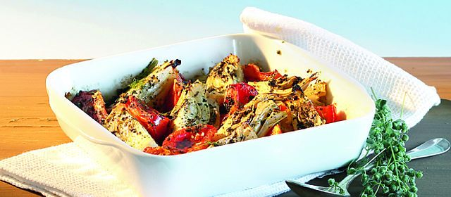 Fenchelgratin mit Tomaten
